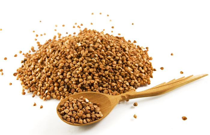 Buckwheat and spoon