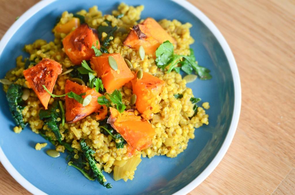 Roasted Pumpkin, Super Grains, and Kale